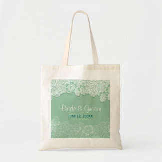 Mint Lace Tote - Customize Budget Tote Bag