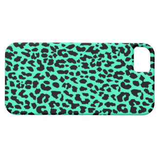 mint leopard iphone 5/5s case