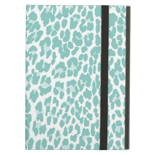 Mint Leopard Pattern iPad Folio Cases
