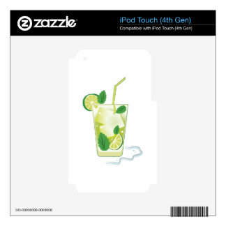 Mint & Lime Drink iPod Touch 4G Skin