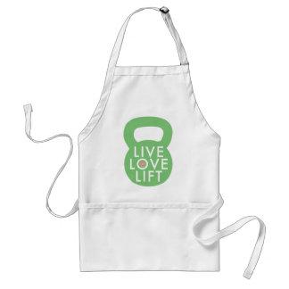 """Mint """"Live Love Lift"""" Adult Apron"""