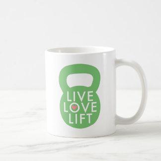 """Mint """"Live Love Lift"""" Coffee Mug"""