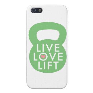 "Mint ""Live Love Lift"" iPhone 5/5S Covers"