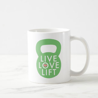"Mint ""Live Love Lift"" Classic White Coffee Mug"