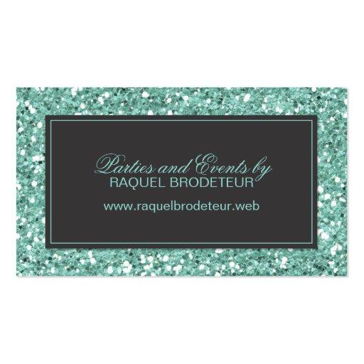 Mint Look Glitter Business Card