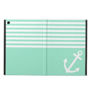 Mint Love Anchor Nautical Case For iPad Air