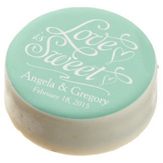 Mint Love is Sweet Personalized Wedding Favor