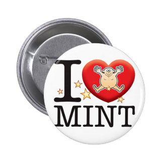 Mint Love Man Button