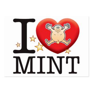 Mint Love Man Large Business Card