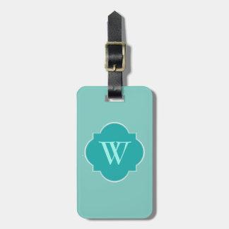 Mint Mint Green Solid Color Bag Tag
