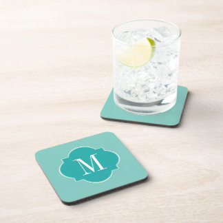 Mint Mint Green Solid Color Beverage Coasters