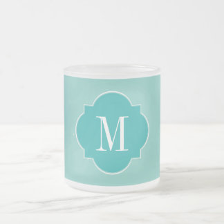Mint Mint Green Solid Color Frosted Glass Coffee Mug