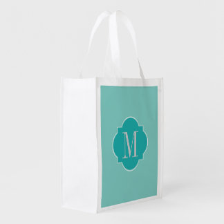Mint Mint Green Solid Color Grocery Bag