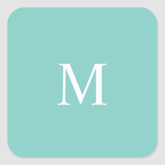 Mint Mint Green Solid Color Square Sticker