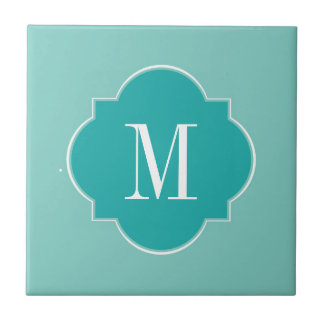 Mint Mint Green Solid Color Tile