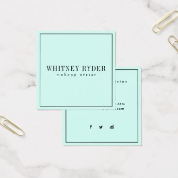 Professional Business Mint Modern Business Cards