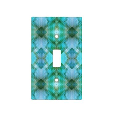 Aztec Themed Mint Modern Geometric Pattern Light Switch Cover