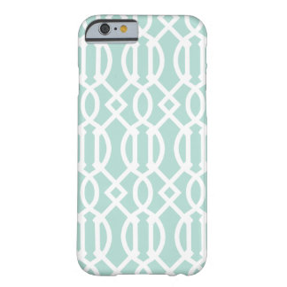 Mint Modern Trellis Pattern Barely There iPhone 6 Case