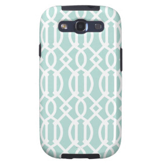 Mint Modern Trellis Pattern Galaxy S3 Cover