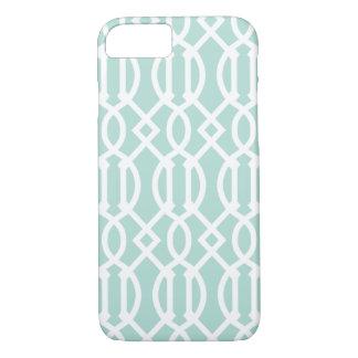 Mint Modern Trellis Pattern iPhone 7 Case