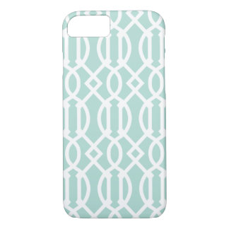 Mint Modern Trellis Pattern iPhone 8/7 Case