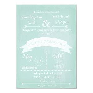 Mint Modern Wedding Invitations 5
