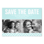 Mint Modern Wedding Save the Date Personalized Invitations
