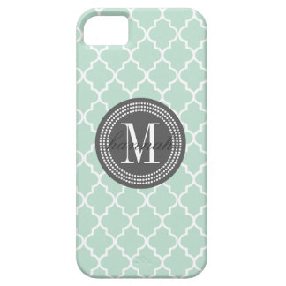 Mint Moroccan Tiles Lattice Personalized iPhone SE/5/5s Case