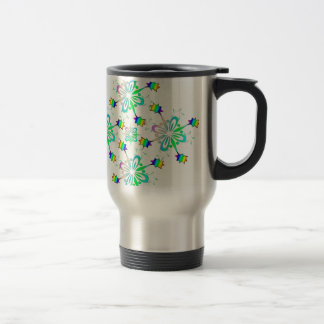 Mint Multi Color Design Template Travel Mug