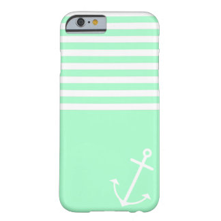 Mint Nautical Barely There iPhone 6 Case