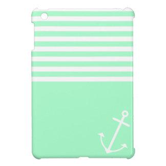 Mint Nautical iPad Mini Cover