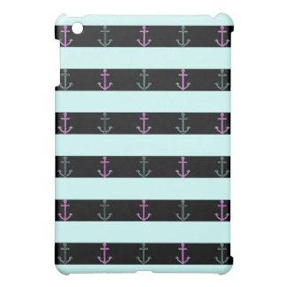 Mint Nautical Pattern iPad Mini Case