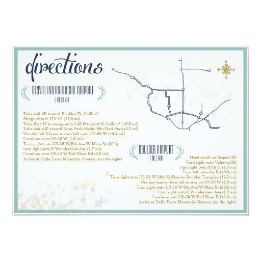 Mint navy gold wedding directions insert 5quot x 7quot 5x7 for Minted navy wedding invitations
