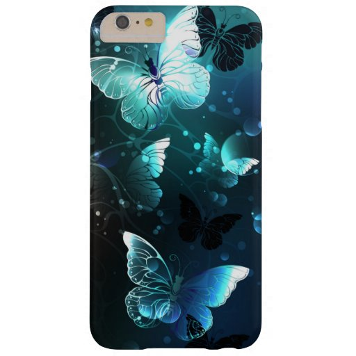 Mint Night Butterflies Barely There iPhone 6 Plus Case