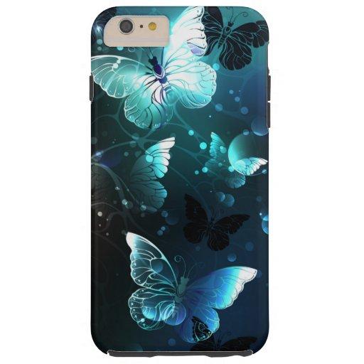 Mint Night Butterflies Tough iPhone 6 Plus Case