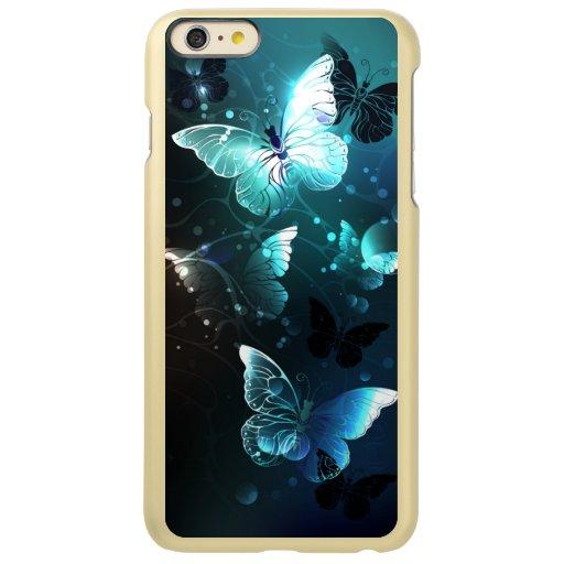 Mint Night Butterflies Incipio Feather Shine iPhone 6 Plus Case
