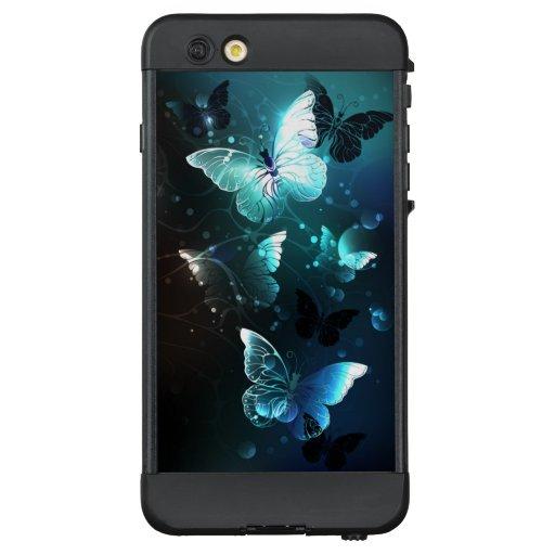 Mint Night Butterflies LifeProof NÜÜD iPhone 6 Plus Case