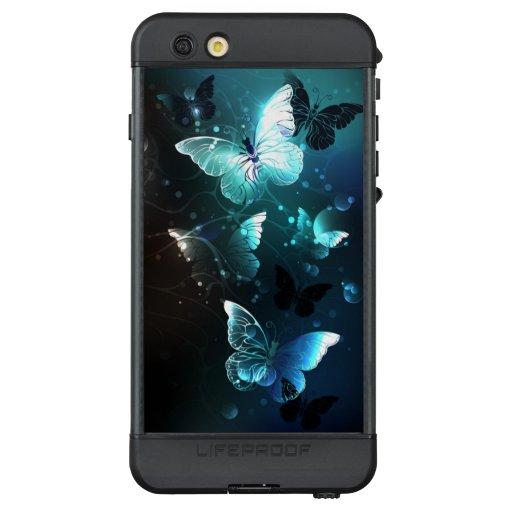 Mint Night Butterflies LifeProof NÜÜD iPhone 6s Plus Case
