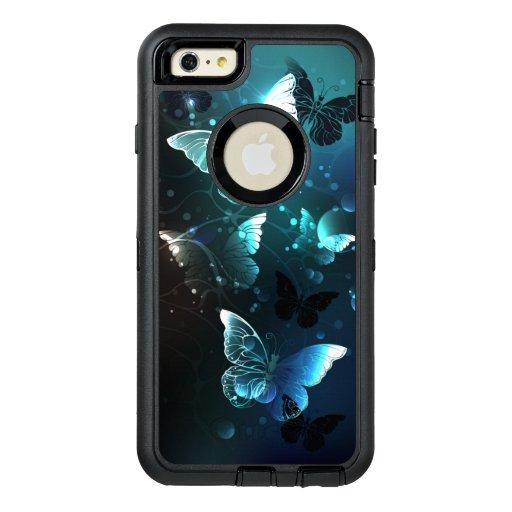 Mint Night Butterflies OtterBox Defender iPhone Case