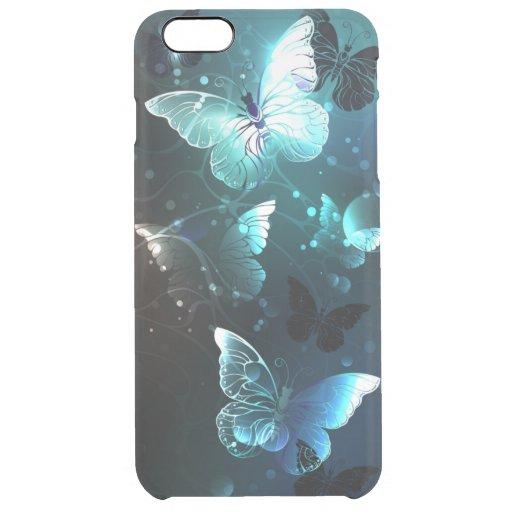 Mint Night Butterflies Clear iPhone 6 Plus Case