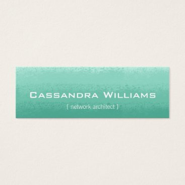 Professional Business Mint Ombre Micro Mini Business Cards