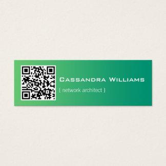 Mint Ombre QR CODE Mini Business Cards