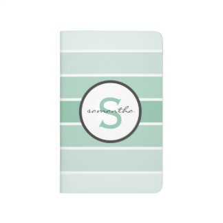 Mint Ombre Stripes Journal