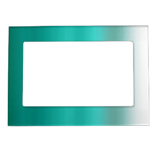 mint ombre watercolor dip dyed green color magnetic photo frame - Mint Picture Frames