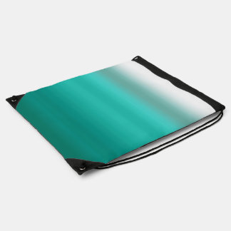 Mint Ombre Watercolor Dip Dyed Green Color Drawstring Backpacks