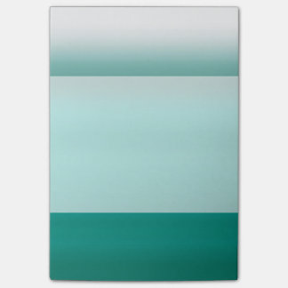 Mint Ombre Watercolor Dip Dyed Green Color Post-it Notes