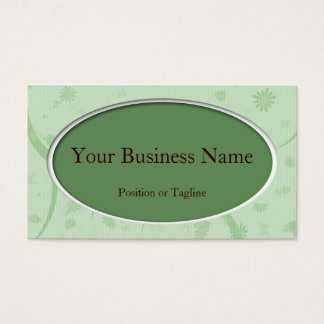 Mint Oval Business Card