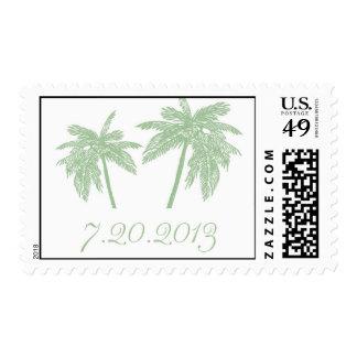 Mint Palm Tree Stamp