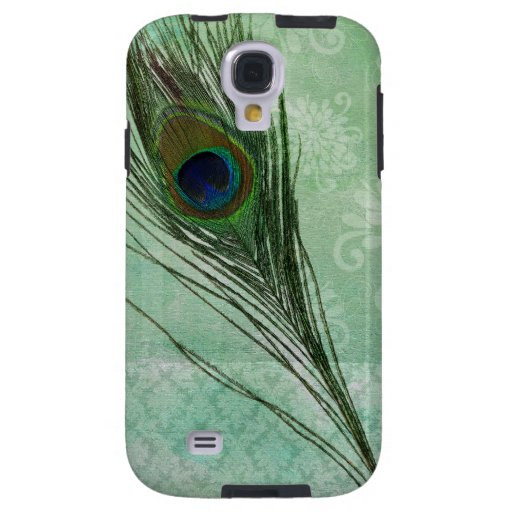 Mint Peacock Feather Galaxy S4 Case