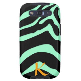 Mint Personalized Zebra Animal Print Galaxy S3 Galaxy S3 Case